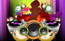 poster,party,background,wallpaper,effect,speaker,headset,abstract,mixing,deejay,mastering,splat,color,colorful