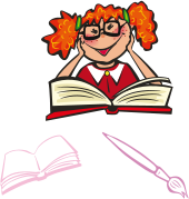 cartoon,girl,book,school,day