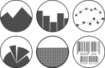 icon,b&w,black,white,gray,transparent,round,graph,plot,pie,bar,area,scatter,xy,barcode,table,data