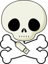 skull,crane,prise,plug,usb,hacking,pirate
