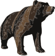 brown,bear,animal,nature,media,clip art,public domain