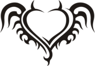 heart corazon tribal