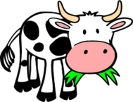 cow,grass,comic style