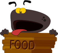 cartoon,comic,animal,dog,cute,sign,hungry