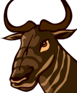 gnu,animal,africa,savannah,hot,free software,gpl,logo,icon,wild,halmophagous,head,face