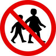 no children round,no children sign,no trepassing sign