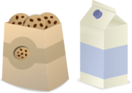 milk cookies cartoon