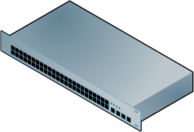 48-port,switch,dell,powerconnect,6248,network,networking,computer,lan,isometric