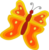 yellow,orange,butterfly