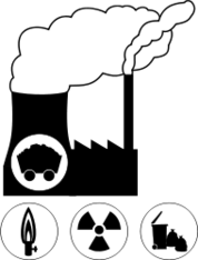 energy,ecology,power,power plant,coal,nuclear,ga,waste,incineration,combustion,refuse,garbage,atom,plant,electricity,current,pollution,environment,pictogram,icon
