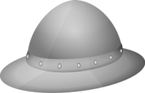 classic medieval helmet,the kettle hat,the kettle helmet,helmet
