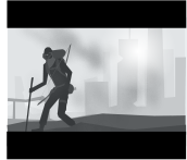 apocalyptic,morning,humans,inkscape,svg,vector,openclipart,wasteland,black and grey