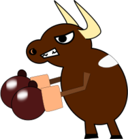 cartoon,cow,animal,boxing,menu