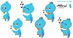 bird,cartoon,eye,icon,music,note,twitter