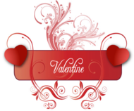 banner,floral,free vector,graphics,logo,ornament,swirl,valentine's heart,valentines day