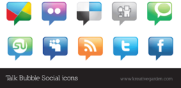 bubble,flickr,icon,line,rss,ship,social,talk,twitter