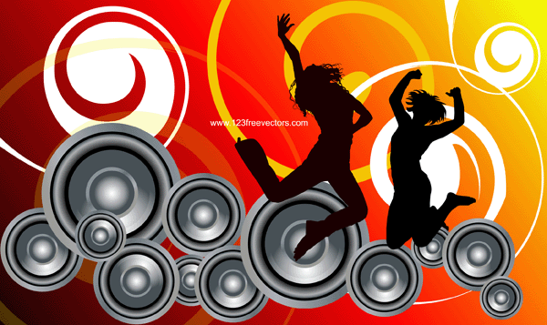 019-Música... Free Holiday Banner Clip Art