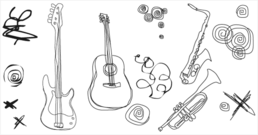 birthday,birthday cake,free vector,guitar,hand drawn,india,instrument,music,music instrument,musical instrument,scribble