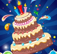 background,balloon,birthday cake,cake,candle,celebration,round,star,sweet