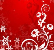 floral,flower,gradient,red background,snowflake