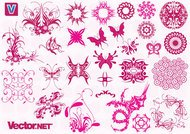 butterfly,dragon,icon,ornament,pattern,ribbos,shape,spiral,swirl,swooshes,tattoo element,tribal design