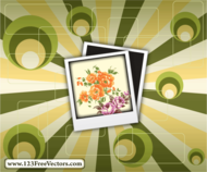 flower,frame,photo frame,polaroid,retro background,sunburst