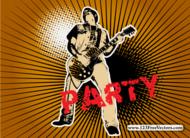 guitar,halftone,music party,singer man,sunburst