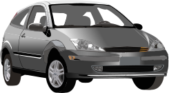 media,clip art,public domain,image,png,svg,car,vehicle,ford,focus,grey,gray,transport,transportation