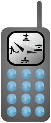 mobile,phone,clock,japanese,chinese,handset,time,media,clip art,public domain,image,png,svg