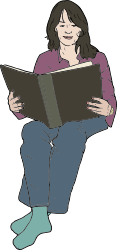 woman,reading,book,people,sitting,media,clip art,public domain,image,png,svg