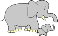 animal,mammal,elephant,baby,media,clip art,public domain,image,png,svg