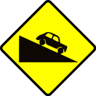 sign,traffic,roadsign,caution,steep,hill