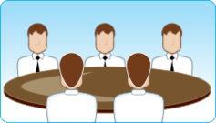 table,discussion,icon,cartoon,people,man,face,men,shirt,tie,suit,media,clip art,public domain,image,png,svg