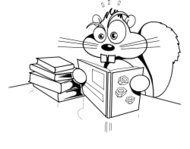 squirrel,book,nut,line art,cartoon,humor,mammal,animal,media,clip art,how i did it,public domain,image,png,svg,book,nut,book,nut,squirreled
