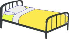 bed,single bed,steel bed,furniture,yellow,bedroom