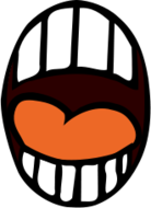 media,clip art,public domain,image,png,svg,people,anatomy,body part,mouth,scream,scared