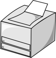 computer,hardware,printer,office,media,clip art,public domain,image,png,svg