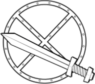 sword,shield,weapon,outline,media,clip art,public domain,image,svg,png