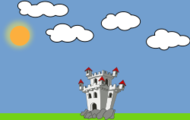 castle,chateau,cloud,sun,colour,outline,cartoon,nature,media,clip art,public domain,image,png,svg
