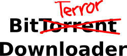 bittorrent,torrent,terror,music industry,film industry,download,protest,illegal,media,clip art,public domain,image,svg