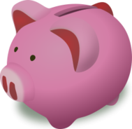 remix,piggybank,money,storage,animal,shadow,saving,bank,save,economy,economics,clip art,media,public domain,image,png,svg,saving
