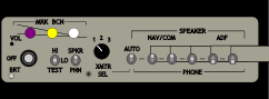 audio panel,switch box,nav,com,aircraft radio,media,clip art,public domain,image,png,svg