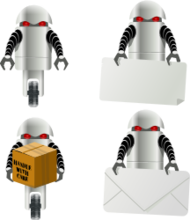 robot,box,mail,card,media,clip art,public domain,image,png,svg
