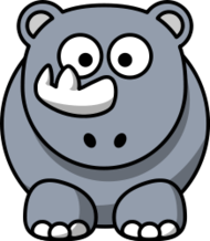 remix,cartoon,rhino,rhinoceros,animal,mammal,africa,clip art,media,public domain,image,png,svg,studiofibonacci