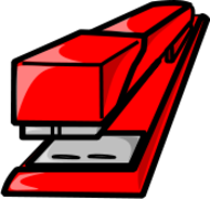 stapler,red,office,symbol,humorous,media,clip art,public domain,image,png,svg