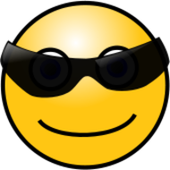 smiley,face,emoticon,emote,sunglasses,media,clip art,public domain,image,png,svg