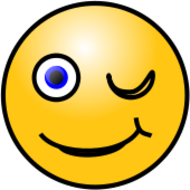 smiley,face,emoticon,emote,wink,media,clip art,public domain,image,png,svg