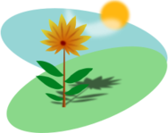 flower,yellow,scene,media,clip art,public domain,image,svg
