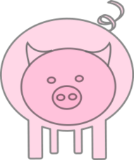 pig,animal,cartoon,media,clip art,public domain,image,png,svg