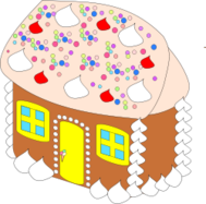 media,clip art,public domain,image,png,svg,cartoon,building,home,house,sweet,gingerbread,fairy tale,fantasy